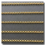 Antique Gold Plate Rolo (Belcher) Style Chain 3mm