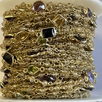 Citrine Semi-Precious Stone Chain | Gold