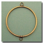 Antique Brass Circle Link | 40mm