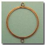 Antique Brass Circle Link | Flat | 40mm