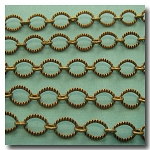 Antique Brass Crimped Oval Style Chain