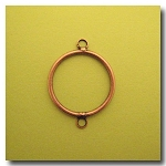 Antique Copper Circle Link | 26mm