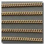 Antique Gold Plate Etched Curb Chain