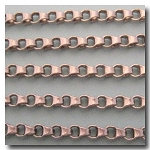 Brushed Silver Plate Ladder Chain 4.5mm