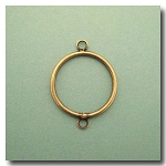 Brass Circle Link | 26mm