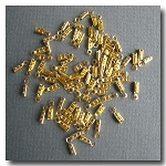 Crimp End with Loop 1mm | Gold Plate | 10 pieces