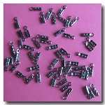 Crimp End with Loop 1mm | Gunmetal | 10 pieces