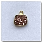 Druzy Pendant | Blush Pink | 11.5x10mm