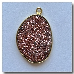 Druzy Pendant | Blush Pink | 24x17.5mm