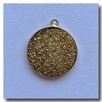 Druzy Pendant | Gold Round | 21mm