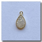 Druzy Pendant | White Teardrop | 13.5x10mm