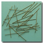 Head Pins | Antique Brass | 1 1/2 inch x 24 gauge | approx. 50 pieces