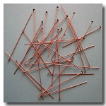 Head Pins | Antique Copper | 1 1/2 inch x 24 gauge | approx. 50 pieces