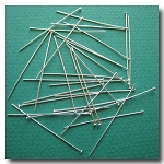 Head Pins | Silver Plate | 1 1/2 inch x 24 gauge | approx. 50 pieces