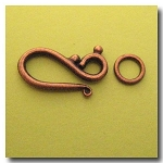 Hook and Eye Clasp | Antique Copper