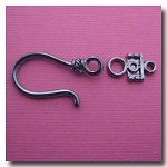 Hook and Eye Clasp | Gunmetal