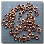 Jump Rings | Antique Copper | 6mm x 18 gauge | approx. 90 pieces