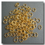 Jump Rings | Gold Plate | 6mm x 21 gauge | approx. 160 pieces
