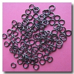 Jump Rings | Gunmetal | 6mm x 21 gauge | approx. 160 pieces