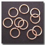 Jump Rings | Rose Gold Plate | 10mm x 17 gauge | 10 pieces
