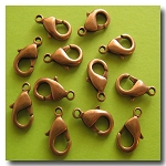 Lobster Clasp | Antique Copper | 15x9mm | 6 pieces