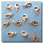 Lobster Clasp | Copper Plate | 12x7mm | 6 pieces