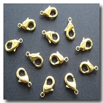 Lobster Clasp | Gold Plate | 15x9mm | 6 pieces