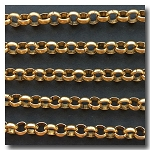 Rolo Chain | Antique Gold Plate | 8mm