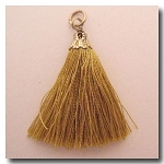 Silk Tassel | One Inch | Antique Gold | Antique Gold Cap