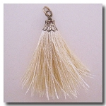 Silk Tassel | One Inch | Butter | Antique Gold Cap