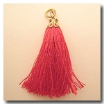 Silk Tassel | One Inch | Magneta | Antique Gold Cap