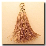 Silk Tassel | One Inch | Mocha | Antique Gold Cap