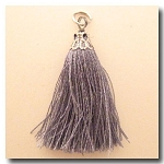 Silk Tassel | One Inch | Mystique Silver | Antique Silver Cap