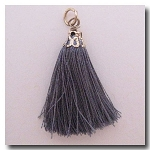 Silk Tassel | One Inch | Mystique Silver | Antique Gold Cap