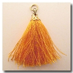 Silk Tassel | One Inch | Orange | Antique Gold Cap