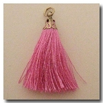 Silk Tassel | One Inch | Petal Pink | Antique Gold Cap