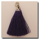 Silk Tassel | One Inch | Royal Purple | Antique Gold Cap
