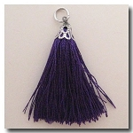 Silk Tassel | One Inch | Royal Purple | Antique Silver Cap