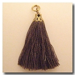 Silk Tassel | One Inch | Taupe | Antique Gold Cap