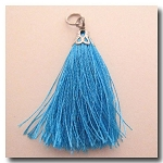 Silk Tassel | One Inch | Arizona Turquoise | Antique Silver Cap