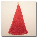 Silk Tassel | 3 1/2 inch | Real Red | Antique Gold Cap