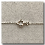 Sterling Silver Necklace | Fine Invisible Chain | 16 inch