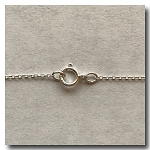 Sterling Silver Necklace | Cable Fine Invisible Chain | 18 inch