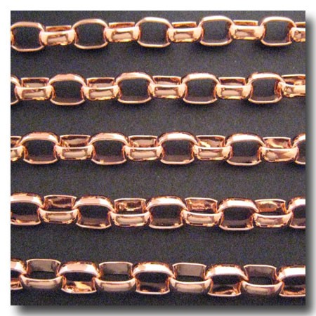 Rose Gold Plate Large Oval Rolo 8.8 x 12mm