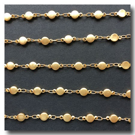 Matte Gold Plate Nugget Chain 4.5mm