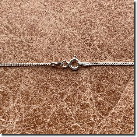 Sterling Silver Necklace | Curb Flat Link Chain | 18 inch