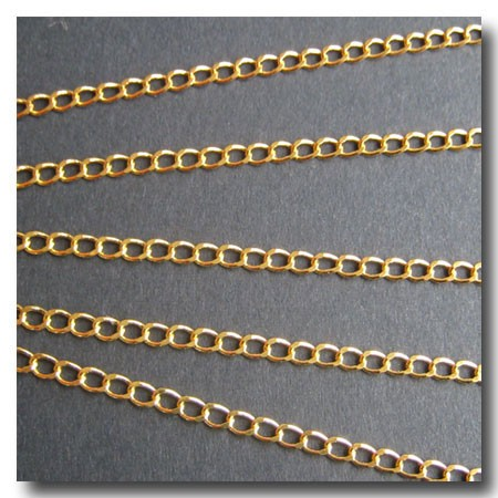 Gold Plate Petite Curb Chain