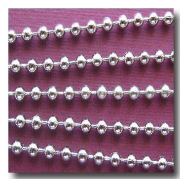 Nickel Plated Ball Chain 2mm