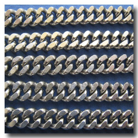 Stainless Steel Large Double Diamond Cut Boxcar Curb Chain 8mm