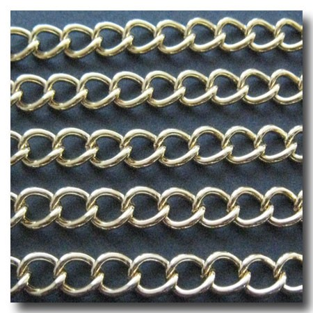 Gold Plate Classic Curb Chain Larger Style